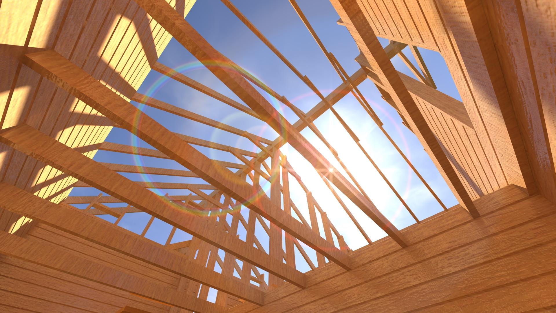 Стропила деревянного дома