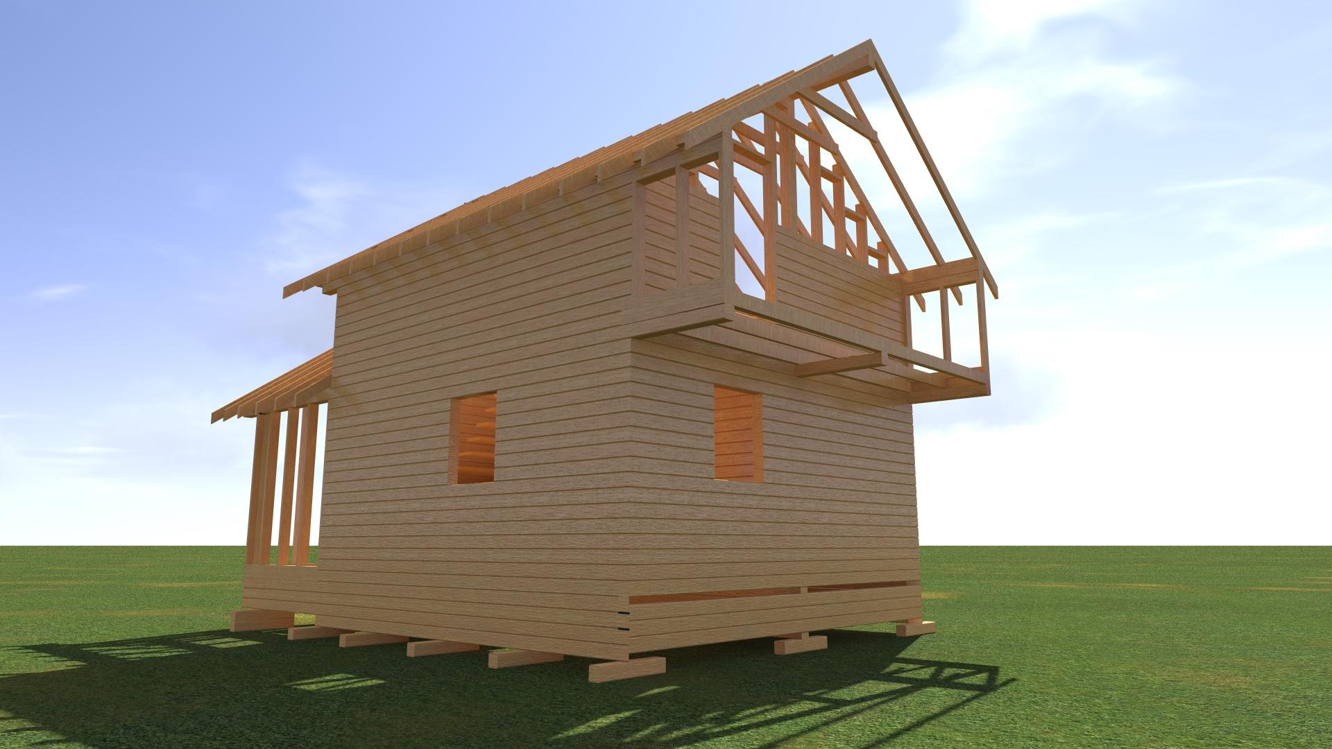 Деревянное здание